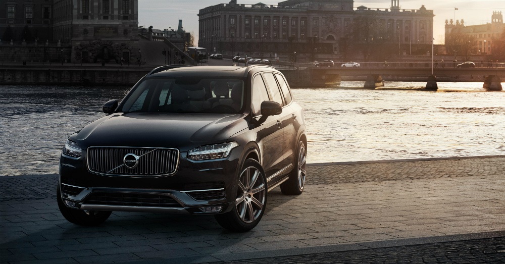 2016 Volvo XC90 by the river